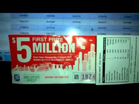 SINGAPORE SWEEP - $5 Million