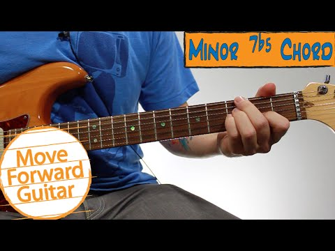 beginner jazz guitar chords - minor 7 flat 5