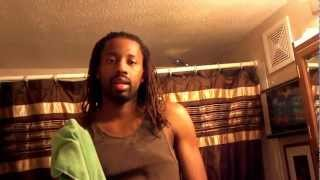 Retwisting locs with a microfiber cloth: Quick Tutorial 101 with Nate