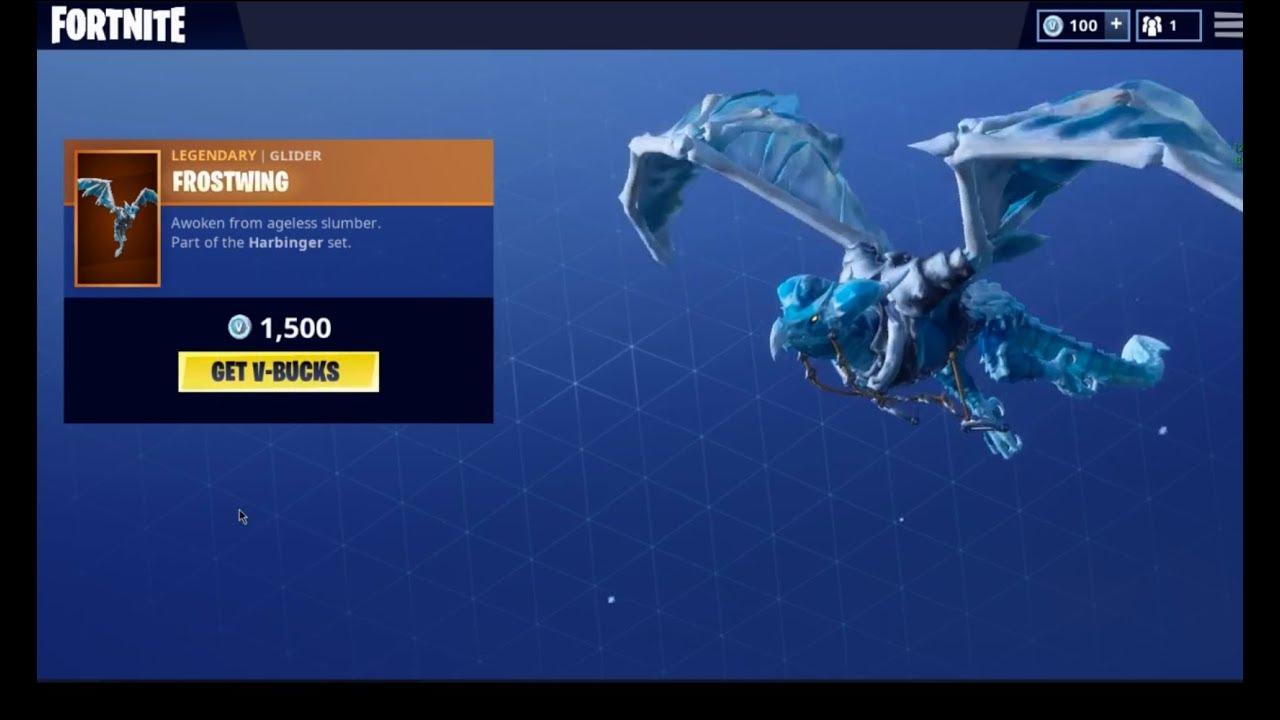 Fortnite fire dragon glider