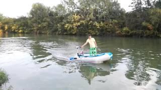 Haswing protruar 2hp 24V 109lb Trolling motor on boat  ( Elektromotor )