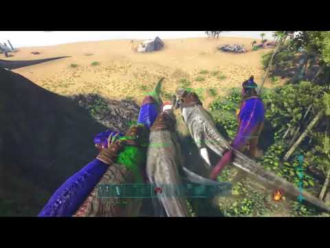 ARK PVP OFFICIAL DEFENSE NOOBS MEAT RUN