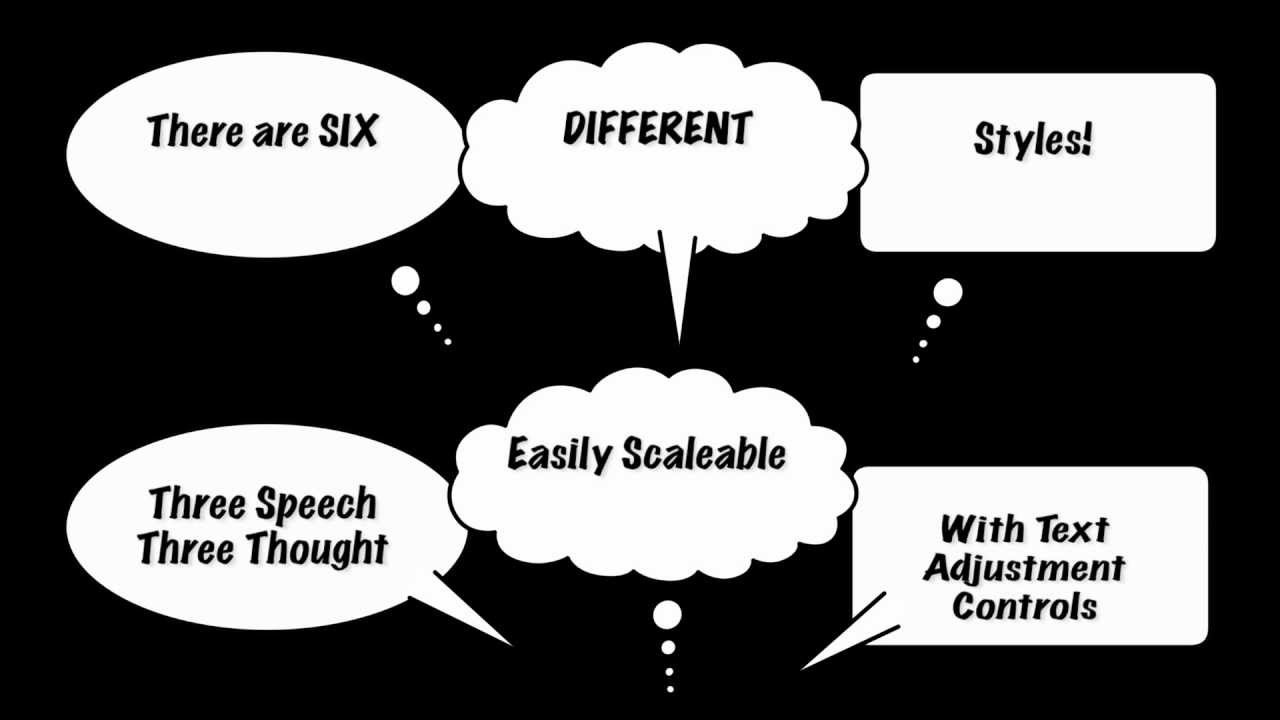 Free Final Cut Pro X (FCPX) Generator: Cartoon Speech Bubbles ...