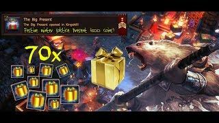 Drakensang Online - Fastbullet - Open 70x  Golden Present and The Big Present (1500 coins)