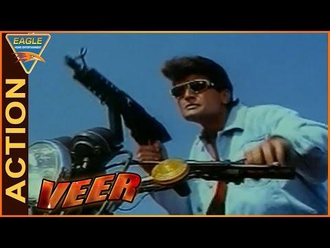 Veer Movie    Shootout Between Arman Kohli and Ishrat Ali Action    Dharmendra    Eagle Hindi Movies