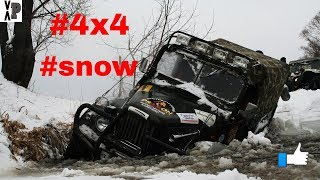Snow 4x4 offroad extreme fails compilation: Best off road moments 2019