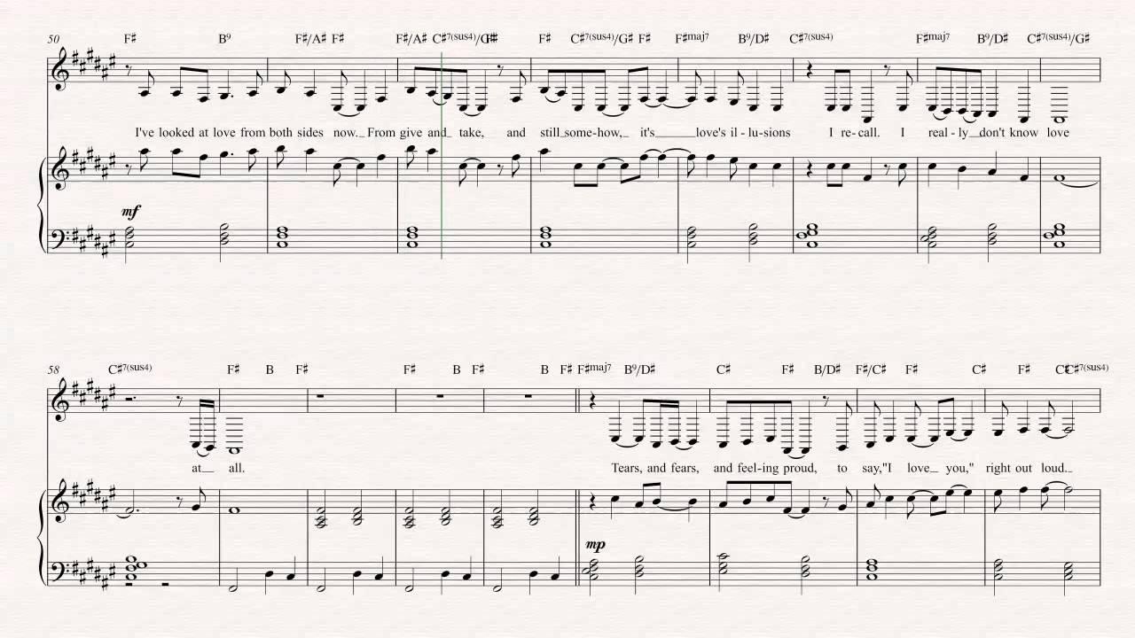 Bari Sax Both Sides Now Joni Mitchell Sheet Music Chords