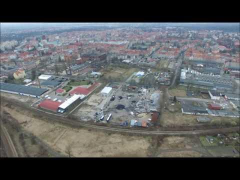 Legnica Zosinek Drzymały Torowa Działki Północne z drona. Phantom 3