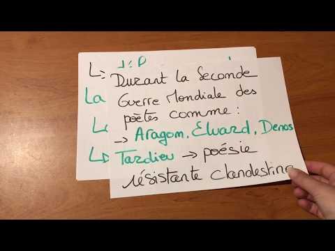 Français Séquence 5 Poésie Et Engagement
