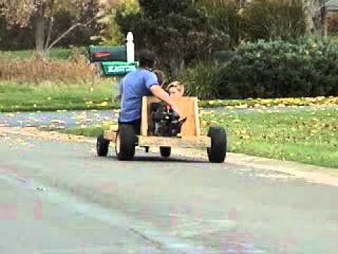 homemade go kart out of wood 1
