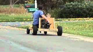 Homemade Wooden Go Cart