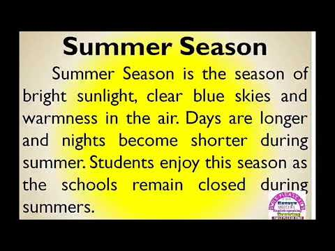 Essay On Summer Season In English By Smile Please World