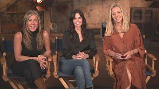 Friends REUNION: Jennifer Aniston, Courteney Cox and Lisa Kudrow Talk EMOTIONAL Return to Set