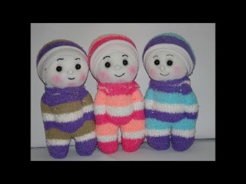 Make A Doll How To Make Doll From Sock Easy Craft Design Crafts