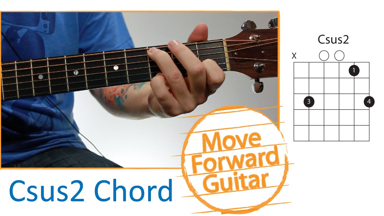 guitar chords for beginners - csus2
