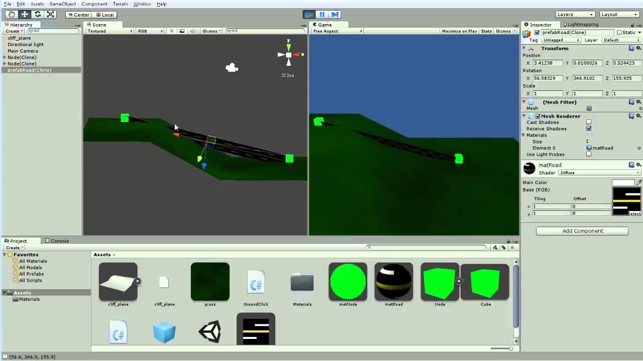 Unity 3d: Procedural Mesh Generation [SimCity Roads] - Part 10
