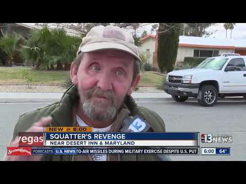 Squatters come back for revenge after being driven out of Las Vegas home