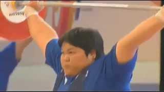 Кубок Кремля по тяжелой атлетике 2013 Женщины +75 кг Рывок online video cutter com(, 2015-04-03T17:19:33.000Z)