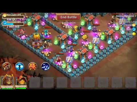 Castle Clash : Insane Dungeon 2-1 ❚ 2 Heroes ❚ 3 Flames