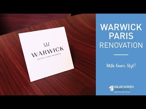 Warwick Paris Hotel Renovation With Cover Styl'® Adhesive Coverings