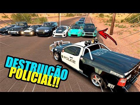DEI FUGA DE MACAN KKK - DESTRUIÇÃO POLICIAL - FORZA HORIZON 3