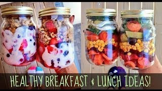 HEALTHY BREAKFAST AND LUNCH IDEAS FOR SCHOOL & WORK!