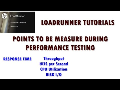 Loadrunner Tutorials | Points to be measure during Performance Testing