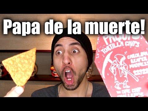 Reto: LA PAPA MÁS PICOSA DEL MUNDO!!!! (one Chip Challenge) - ChideeTv