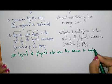 logical vs physical address space | operating system |