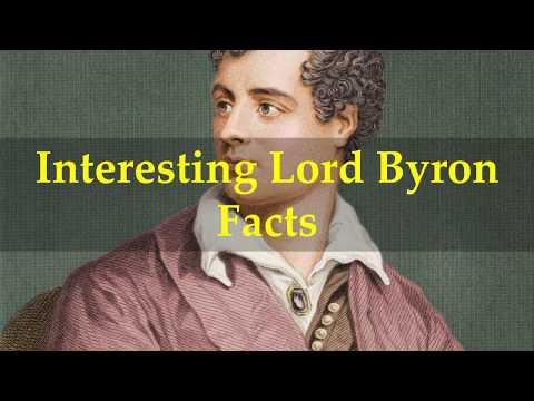 Interesting Lord Byron Facts