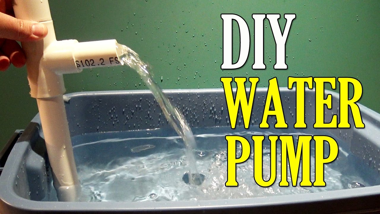 How to Make a Water PUMP using PVC Pipe DIY - YouTube