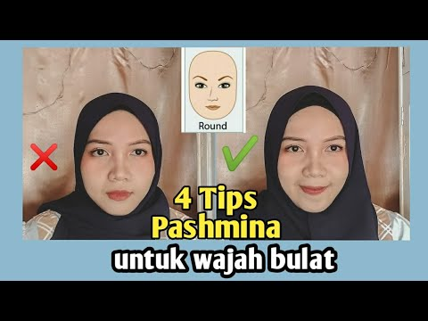 TUTORIAL PASHMINA DI WAJAH BULET DAN TEMBEM - Tutorial Pashmina Diamond | Nabilah Afiati.