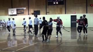 Ball Hockey Fights - Ball Hockey Brawls - Surrey Crooks vs. Pacific Jaguars (UFC Deluxe Version)