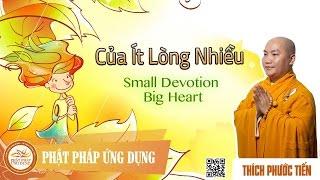 Của Ít Lòng Nhiều English sub (Small Devotion Big Heart)  - Thầy Thích Phước Tiến