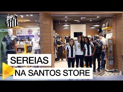 Sereias da Vila visitam a Santos Store de Guarulhos