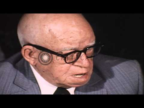 General Omar N. Bradley talks about the occupation of Berlin during World War 2 a...HD Stock Footage