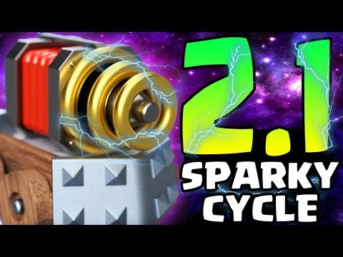 CAN'T LOSE! 2.1 SPARKY CYCLE DECK! FASTEST SPARKY DECK EVER! | Clash Royale