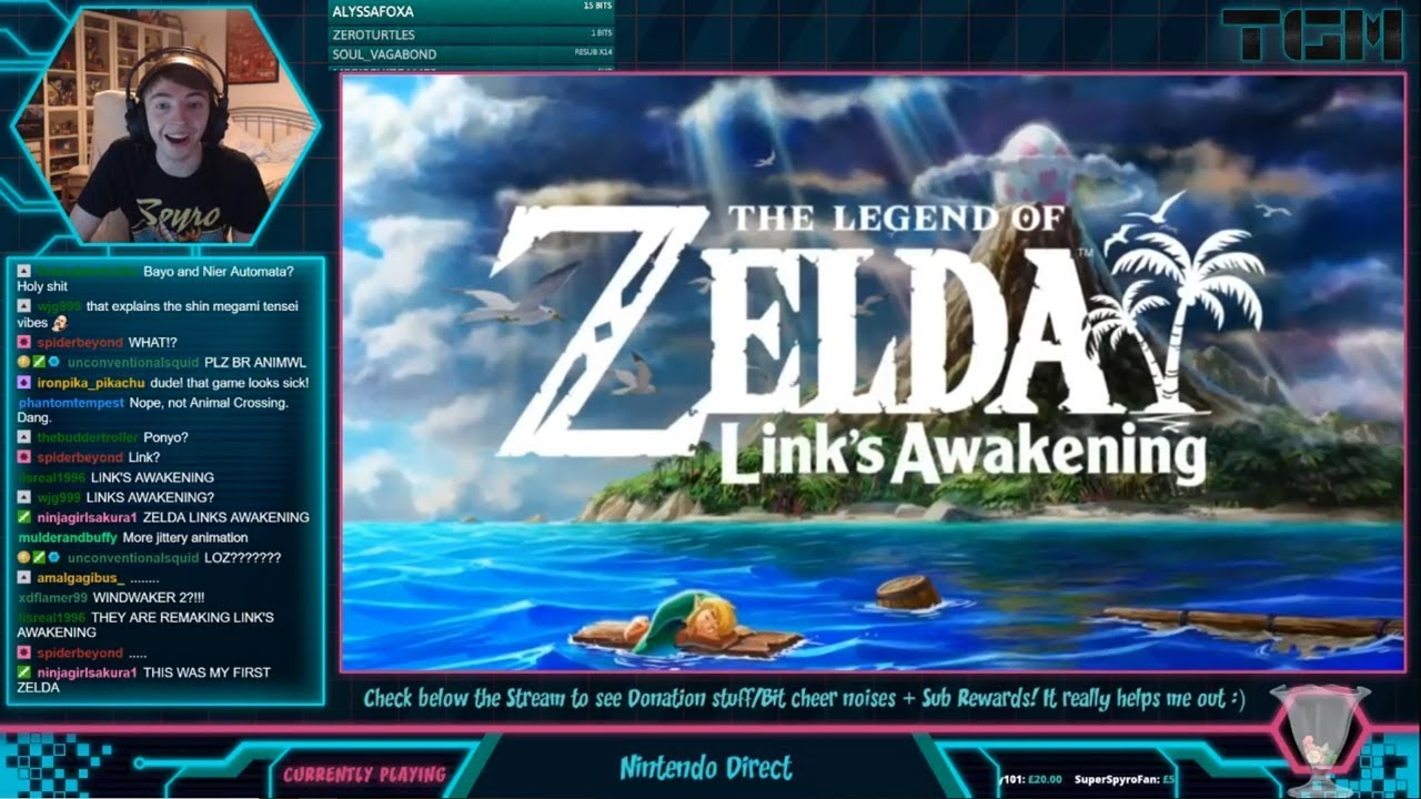 THE LEGEND OF ZELDA LINK'S AWAKENING REMAKE REACTION! (Nintendo Direct Reaction)
