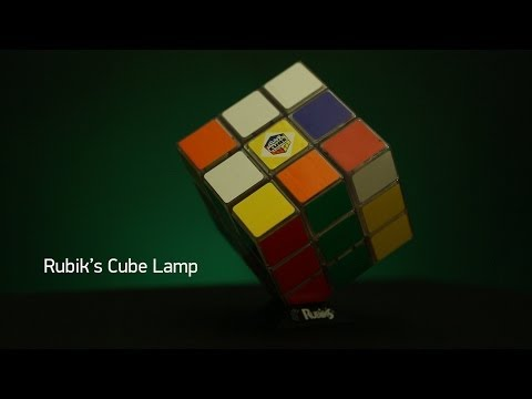 Rubik''s Cube Lamp from ThinkGeek