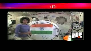 Sunita Williams hoists Indian flag in space