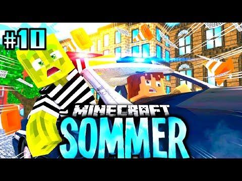 WIR STEHLEN ein POLIZEI AUTO?! - Minecraft Sommer #10 [Deutsch/HD]