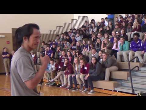 Sam Sann Tells His Story At Grant Junior High School