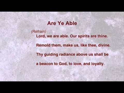 Are Ye Able (United Methodist Hymnal #530)