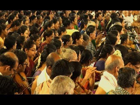 Kanakana Ruchira recital by Carnatic musicians, Thyagaraja Music Festival