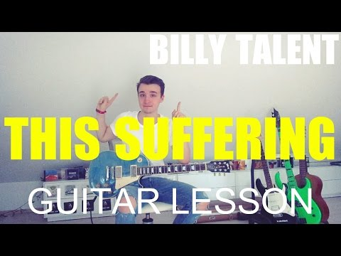 Billy Talent: This suffering; part 1 (GUITAR TUTORIAL/LESSON#22)
