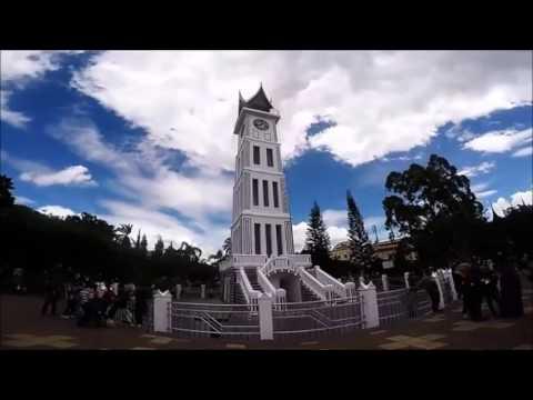 "Wonderful Indonesia - Pesona Keindahan ""Kota Jam Gadang"" Bukittinggi Sumatera Barat."