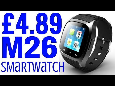 £4.89 M26 Cheapest SmartWatch Unboxing Review Cheap Smart Watch Android iphone Phone
