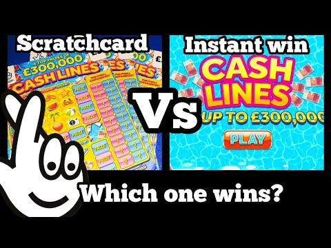 CASH LINES vs CASH LINES | Scratch cards - ONLINE! | Bierans Cards
