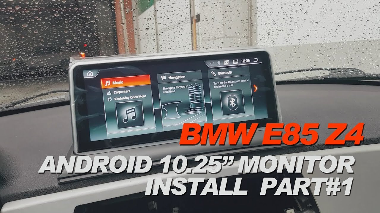 diy bmw e85 z4 1 android monitor install test youtube. Black Bedroom Furniture Sets. Home Design Ideas