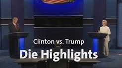 Trump gegen Clinton: Die letzte Debatte